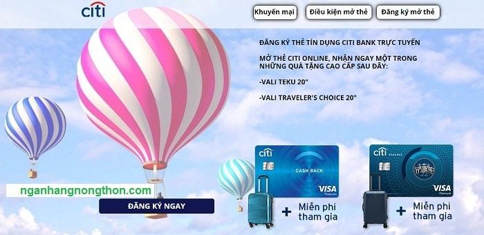 Các loại thẻ tín dụng Citi - Điều kiện mở thẻ tín dụng Citibank 01