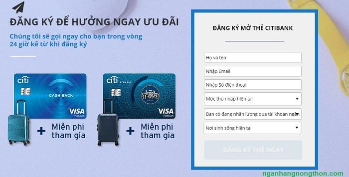Các loại thẻ tín dụng Citi - Điều kiện mở thẻ tín dụng Citibank 03