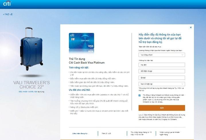 Các loại thẻ tín dụng Citi - Điều kiện mở thẻ tín dụng Citibank 05