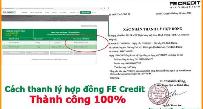 Cách thanh lý hợp đồng FE Credit thành công 100%