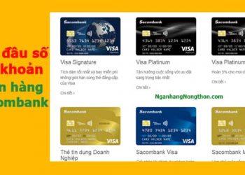 các đầu số tài khoản ngân hàng Sacombank