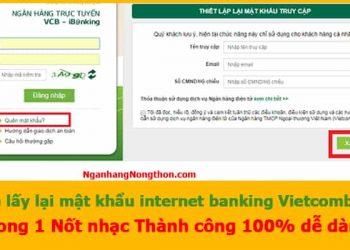 cách lấy lại mật khẩu internet banking vietcombank
