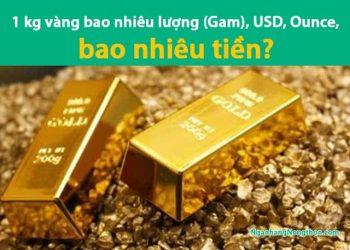 1 kg vàng bao nhiêu lượng (Gam), USD, Ounce, bao nhiêu tiền