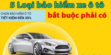 5 Loại bảo hiểm xe ô tô bắt buộc phải có - Biểu phí bảo hiểm TNDS xe ô tô