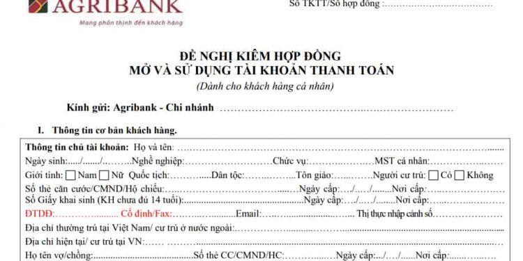 Hướng dẫn mở tài khoản USD Agribank Chi Tiết Nhất
