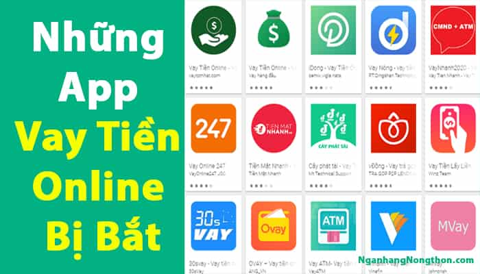 Những App Vay Tiền Online Bị Bắt
