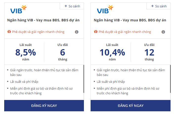 Ứng dụng App vay tiền Online Mobile theo lương- VIB