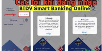 Các lỗi thường gặp khi đăng nhập BIDV Smart Banking Online và cách xử lý