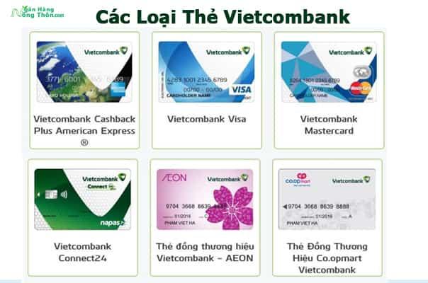 Các loại thẻ ATM ngân hàng Vietcombank và Biểu Phí