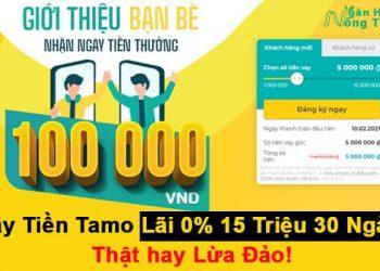 Tamo.vn Vay Tiền Tamo Lãi 0 Vay 15 Triệu Đến 30 Ngày Thật hay Lừa Đảo