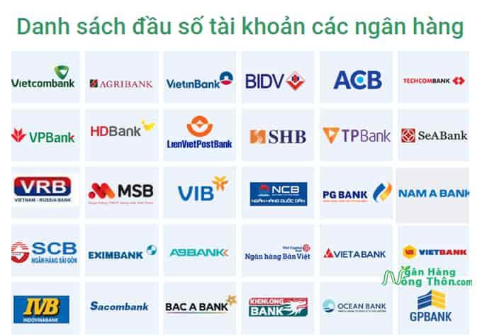 Danh sách đầu số tài khoản của các ngân hàng, cách tra cứu số tài khoản