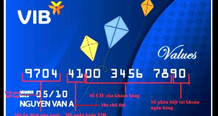 ý nghĩa các con số trên thẻ ngân hàng