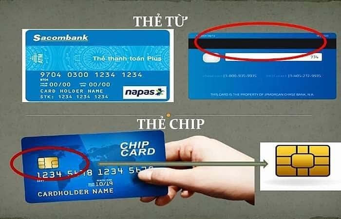 Phân biệt thẻ từ, thẻ chip ngân hàng
