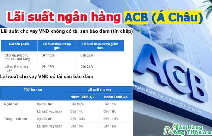 Lãi suất ngân hàng ACB (Á Châu): Lãi suất gửi tiết kiệm, lãi suất vay ACB mới nhất