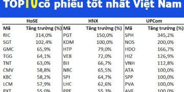 TOP 10 chứng khoán cổ phiếu tốt nhất Việt Nam nên đầu tư dài hạn