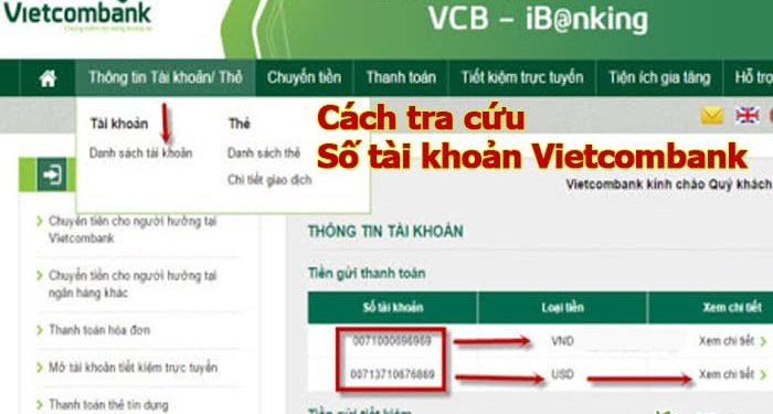 Trọn bộ các cách tra cứu số tài khoản Vietcombank nhanh chóng, đơn giản nhất