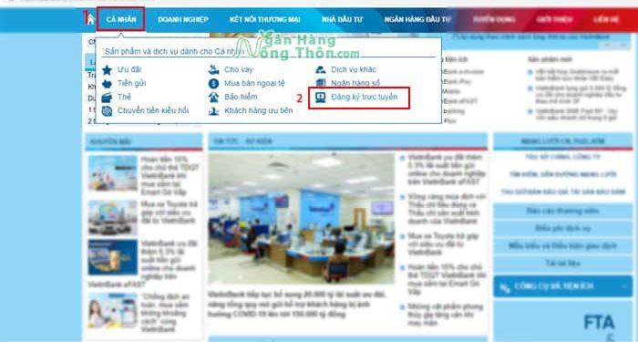 Mở tài khoản ngân hàng Vietinbank online, mở tài khoản số Đẹp miễn phí
