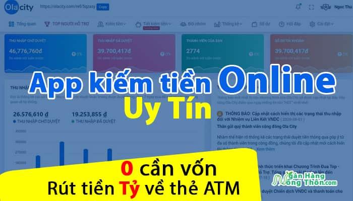 Ola City – app kiếm tiền online trên máy tính