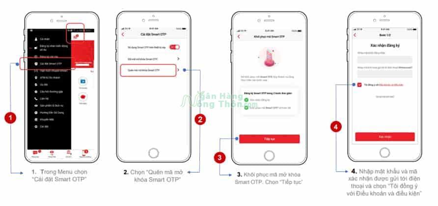 Cách lấy lại mã OTP Techcombank trên điện thoại