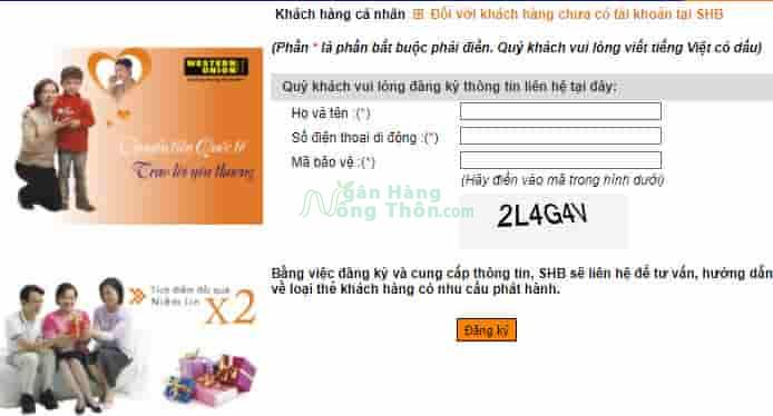 Cách làm thẻ ATM ngân hàng SHB online miễn phí lấy ngay tại nhà
