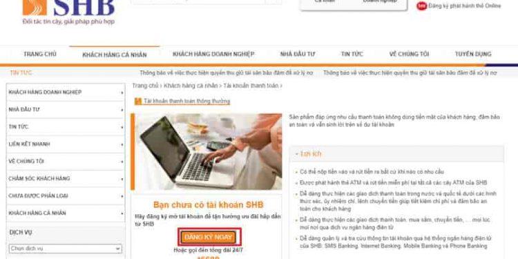 Cách mở tài khoản ngân hàng SHB online và tài khoản số đẹp miễn phí