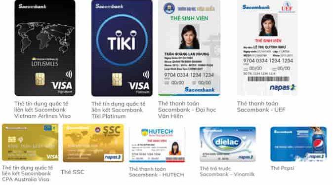 Các loại thẻ ATM Sacombank theo màu và các loại phí thẻ ATM Sacombank