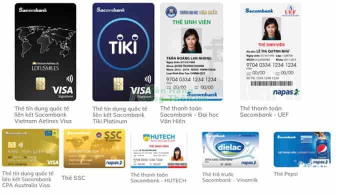 Thẻ liên kết Sacombank