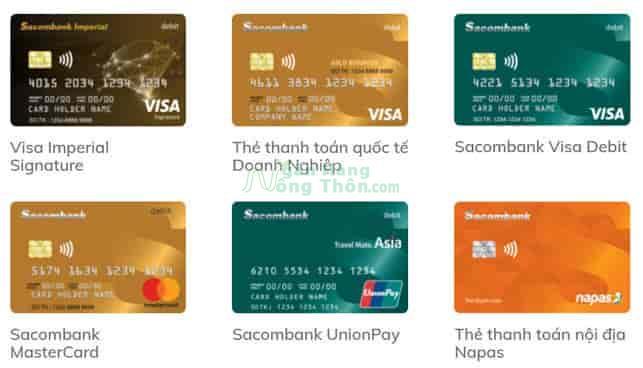 Thẻ thanh toán Sacombank