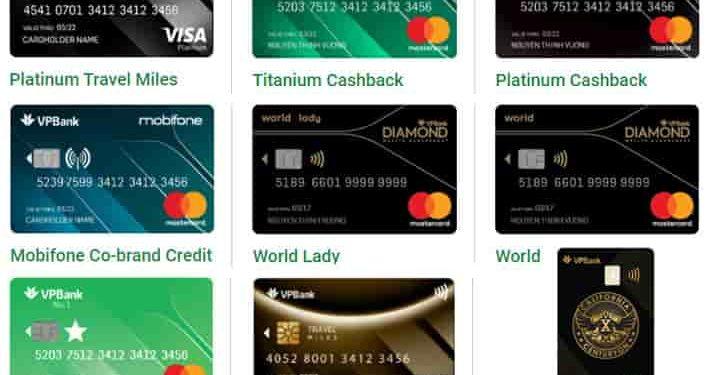 Các loại thẻ ATM VPBank và So sánh thẻ tín dụng VPBank